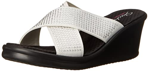 52425bf035cbe Skechers Women s Rumblers Metal Mama Heels Sandals