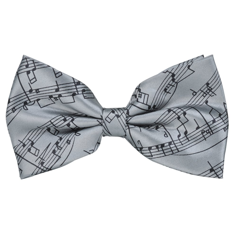 PUNK Pre-tie Music Notes Bow tie Self-tie Style 6 Colors Birthday Gift Formal Fun Occasions (Blue)