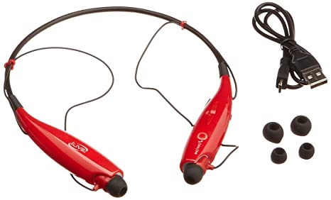 ed82415bba8 Image Unavailable. Image not available for. Color: iLive IAEB25R Bluetooth  Neckband and Earbuds (Red)