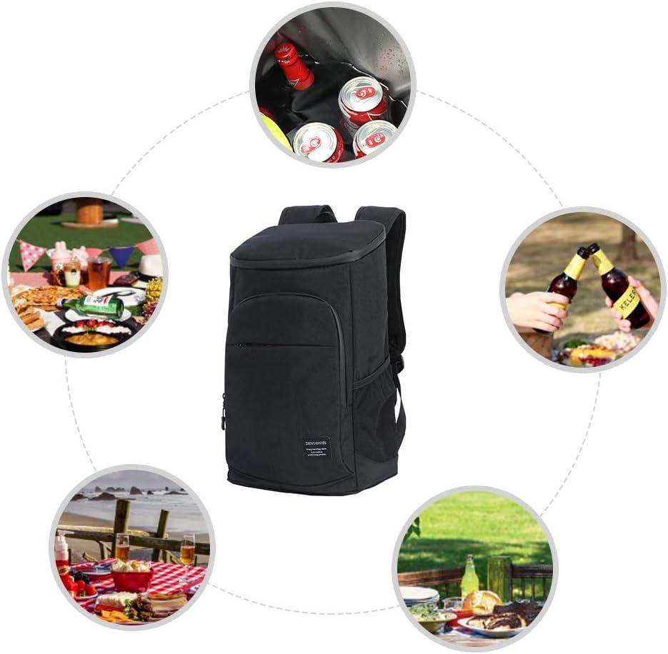Reiserucksack f/ür Picknick K/ühlrucksack Ausfl/ügen Weesey Picknick Rucksack Einkaufen BBQs Thermo Rucksack K/ühltasche Isolierte Cooler Bag Camping