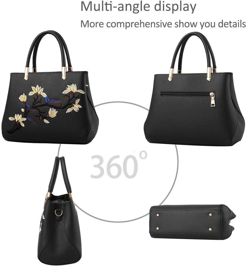 SXYULQQZ Borse da Donna Eleganti Borse a Tracolla Borse a Mano Borse a Tracolla PU Durevole Impermeabile (Azzurro) Black