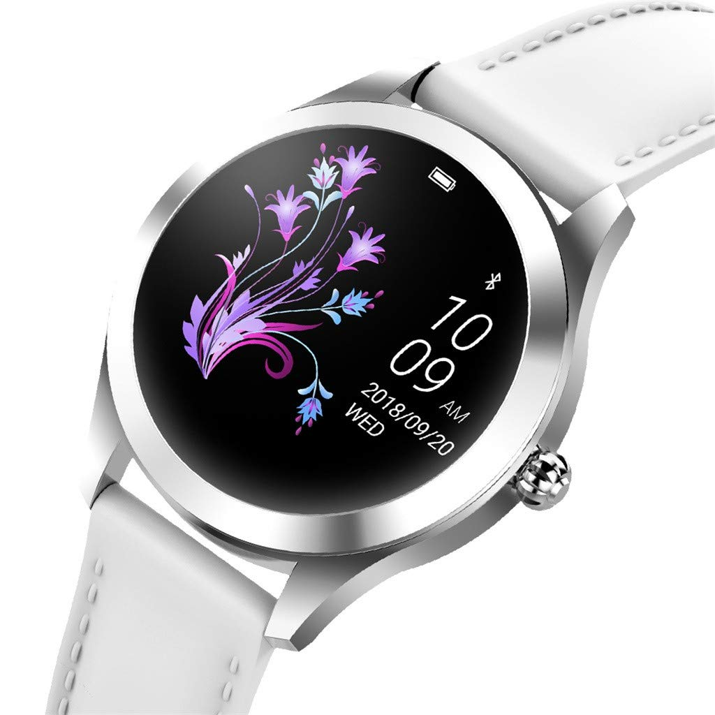 KW10 Smart Watch for Android & IOS, SHUDAGE Women Girls IP68 1.04 inch IPS Color Screen Heart Rate Sleep Monitoring Sport Fitness Tracker Bluetooth 4.0 Smart Watch Bracelet Wristband (silver)