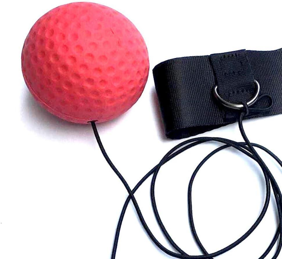 Reflex-B/älle mit verstellbarem Stirnband Agility-Timing-Reaktionen 2-stufig Rot + Schwarz Warooma Box-Reflex-Ball verbessert die Hand-Augen-Koordination Geschwindigkeit