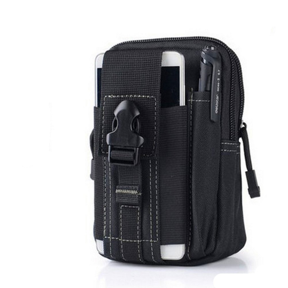 Bolsa Compacta de Táctico Bolso de Cintura Riñonera Militar Hombre para Móviles Camping Deporte al Aire Libre (Negro) Yiwu Chenrui E-Commerce Co. Ltd