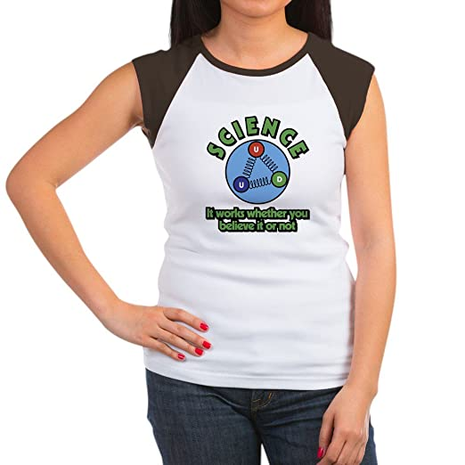 7ca0a0dd CafePress - Science It Works Wheth - Women's Cap Sleeve T-Shirt Brown/White