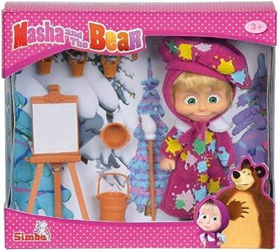 Boneca Masha E O Urso Masha Pintura Divertida Sunny Amazon