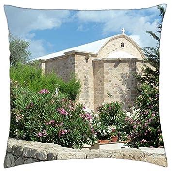 Iglesia en Chipre - Funda de almohada manta (16: Amazon.es ...