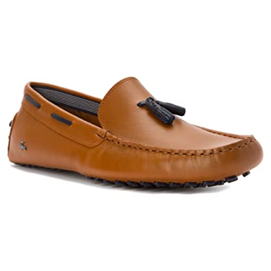 1fb22115454f84 Lacoste Mens Concours Tassle 8 Loafers in Tan 6.5 (Adult)  Amazon.co ...