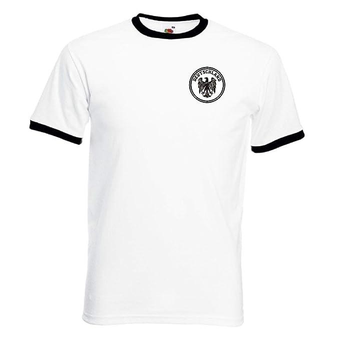 Invicta Screen Printers Alemania Deutschland Deutsch Alemán Fútbol Soccer Equipo Camiseta Retro: Amazon.es: Deportes y aire libre