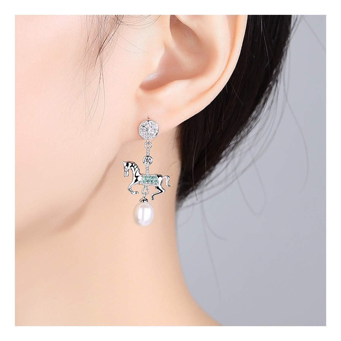 48c81d2135d2 MWTWM Plata Pura Aretes Aretes Nuevos Modelos Rotaciones Natural Patchwork  Diamantes Perlas Ponis Personalidades Joyería Boutique