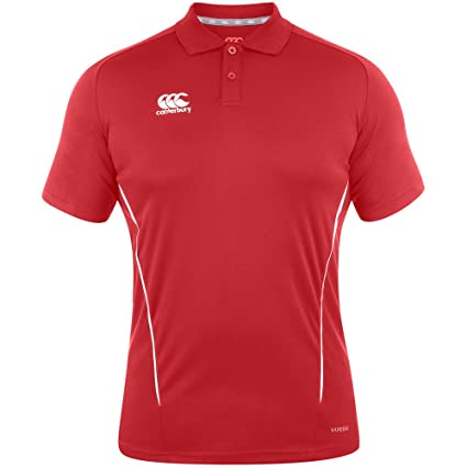 Canterbury E533783-468-XS Team Dry Polo – Bandera Rojo/Blanco, Talla