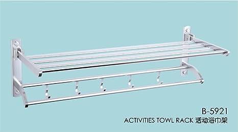 sydlj magnesio aleación de aluminio para colgar toalla de baño toalla de baño para colgar de
