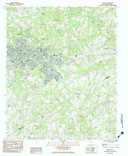 Easley SC topo map, 1:24000 scale, 7.5 X 7.5 Minute, Historical, 1983, updated 1983, 26.8 x 21.9 IN - - Brookwood Village