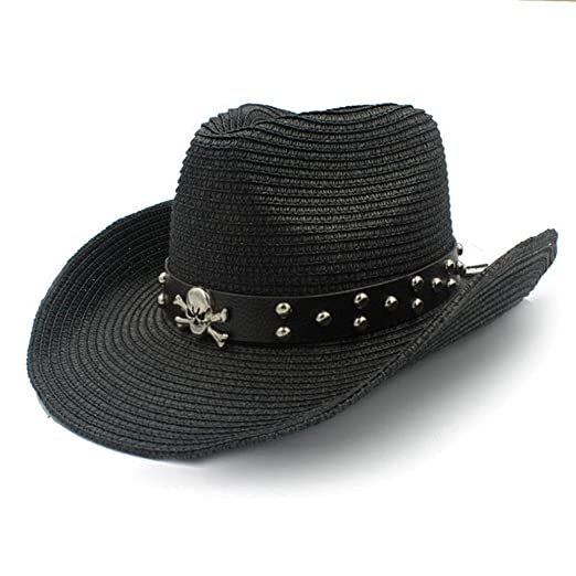 Image Unavailable. Image not available for. Color  Mens Western Cowboy Hats  Roll up Brim Summer Beach Sombrero Sun Cap Unisex a902711ce16