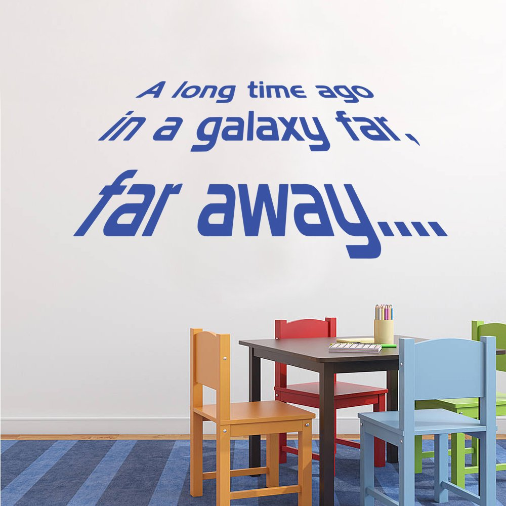 Star Wars A Long Time Ago Wall Decal Art Sticker Boys Bedroom