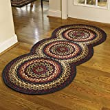 Folk Art Style Braided Rug Runner, 30'' X 72''