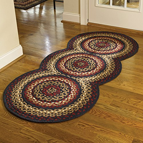 Braided Rugs Folk Art Style Runner, 30 X 72