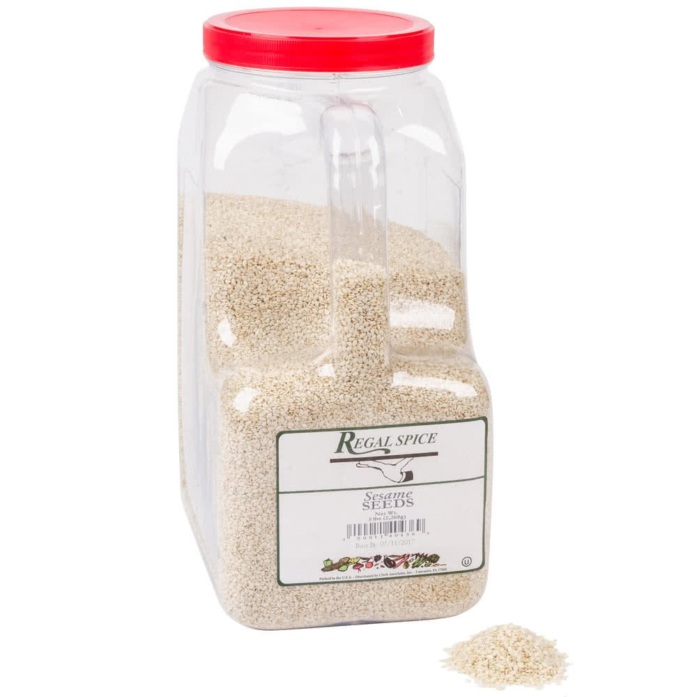 White Sesame Seeds - 5 lb. By TableTop King