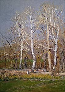 polyster Canvas ,the Reproductions Art Decorative Prints on Canvas of oil painting 'Beruete y Moret Aureliano de Paisaje de invierno 1911 ', 18 x 26 inch / 46 x 65 cm is best for Foyer decor and Home decoration and Gifts