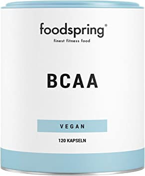 foodspring Cápsulas de BCAA, 120 cápsulas, BCAA de origen ...