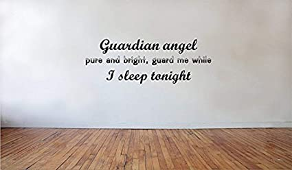 Amazon.com: Home Quotes Wall Stickers Guardian Angel Pure ...