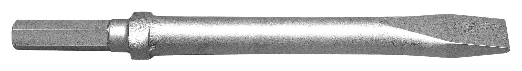 Champion Chisel, 12-Inch Long .580 Hex Shank Oval Collar Chipping Hammer Narrow, Flat Chisel
