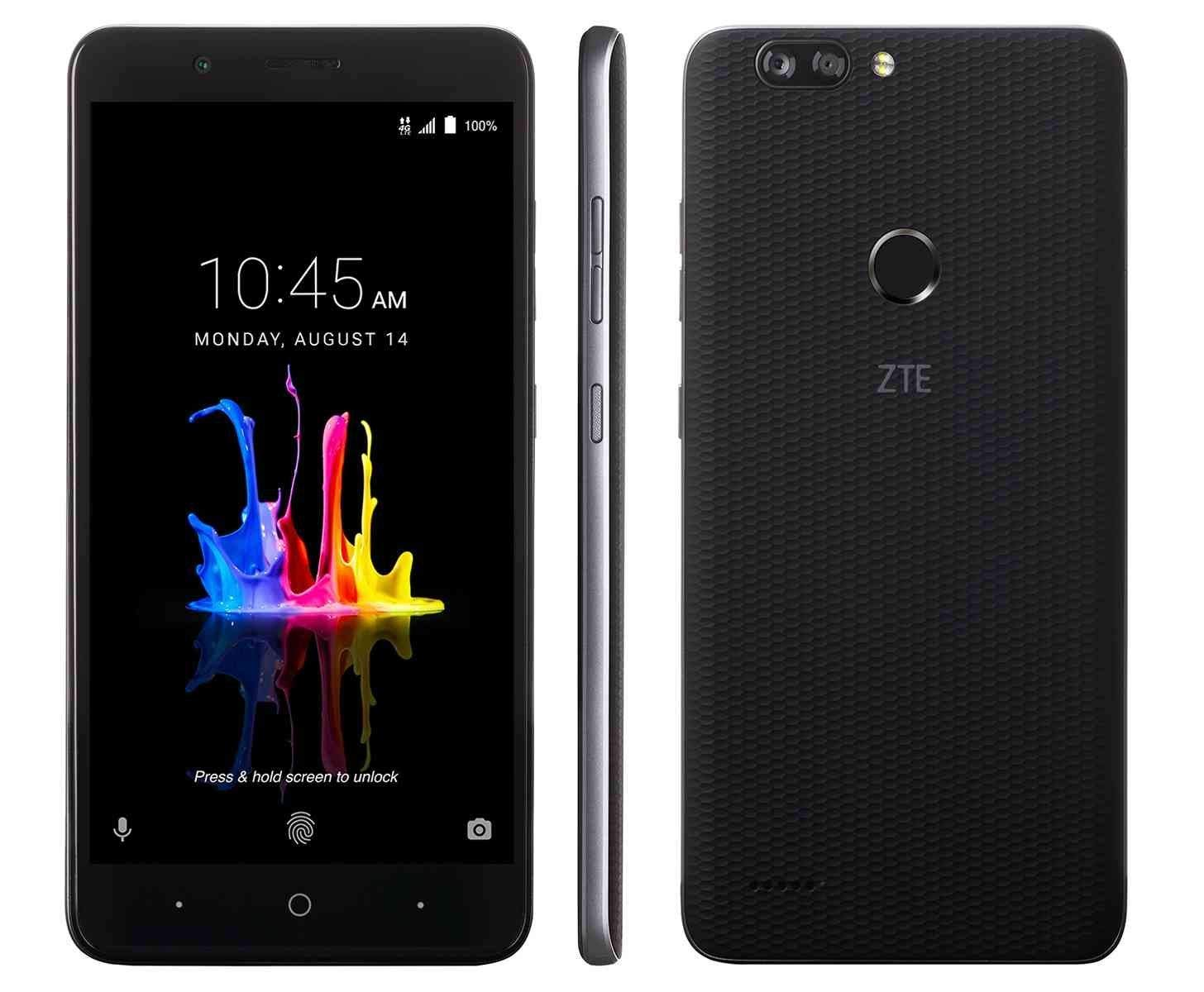 ZTE BLADE Z MAX Z982 (32GB, 2GB RAM) 6.0'' Full HD Display, Dual Rear Camera, 4080 mAh Battery, 4G LTE GSM Unlocked Smartphone w/ US Warranty (Black)