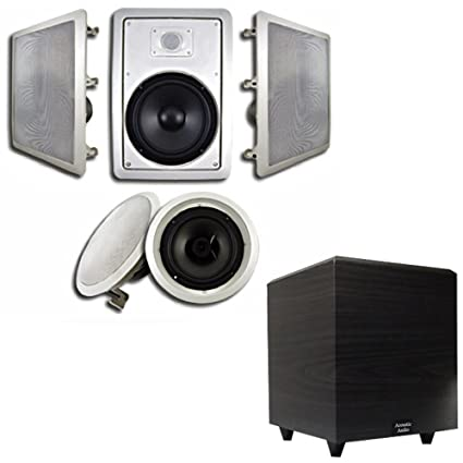 Amazon Com Acoustic Audio Ht 85 In Wall Ceiling 5 1 Home