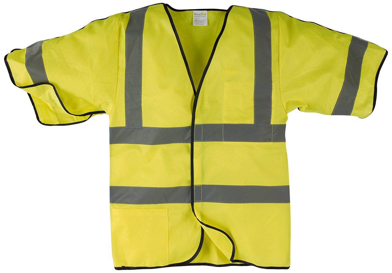Modacryllic 4X//5X Hi-Vis Yellow Neese Industries Inc VM7VTS2FYXX-4X5X Neese Industries Fire Resistant Hi-Viz ANSI Class 2 Basic Vest with Silver Reflective Tape
