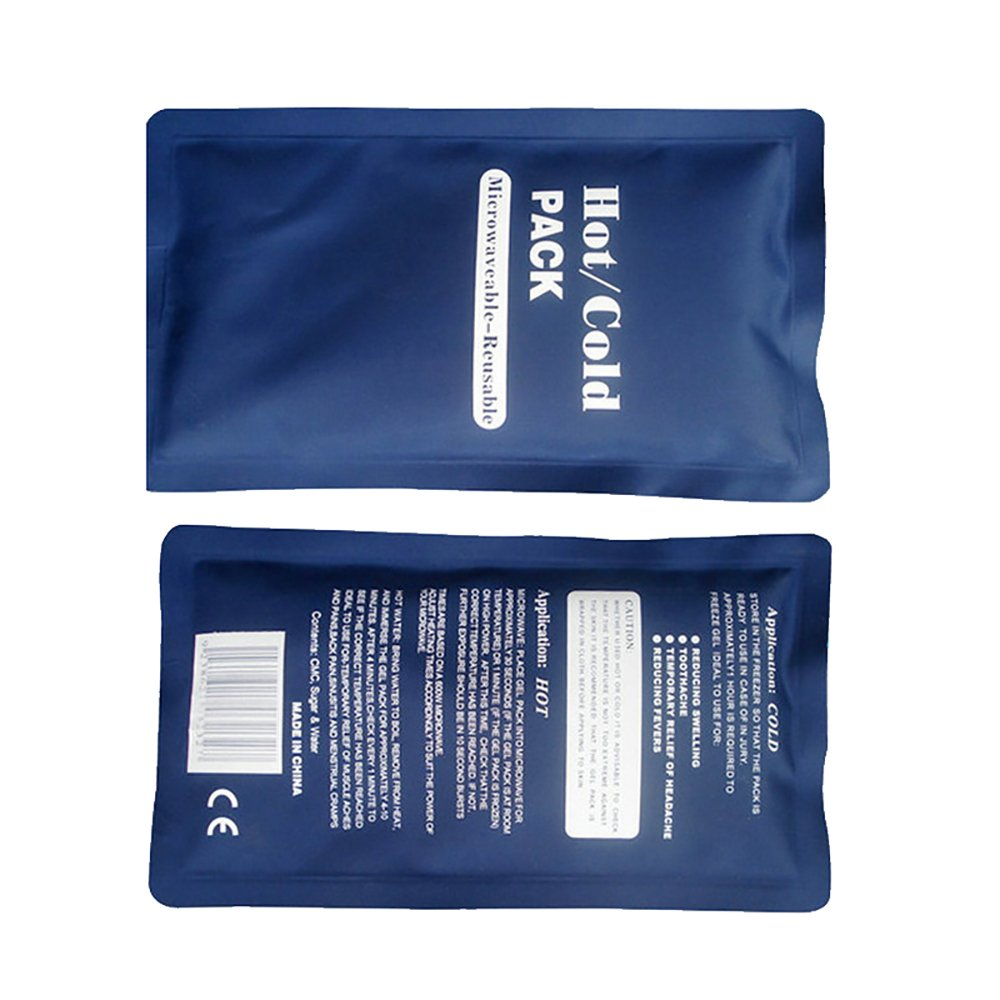 Pevor Nylon Silk Hot and Cold Reusable Therapy Pack Gel Bag Pack of 2