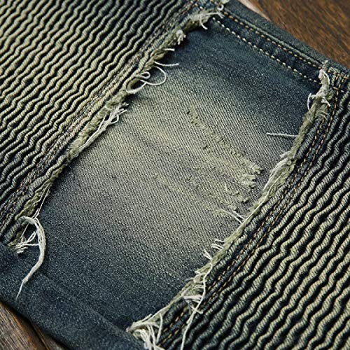88 Bassa A Vita Eleganti Da Pantaloni Uomo Blu Cinturino Denim Especial Attillati Diritti Estilo Senza Bobo Jeans In Casual Strappati dwxqWBn0d