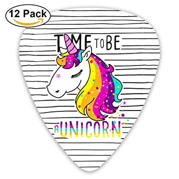 Púas para guitarra de rayas Unicorn Iris Púas de plástico ABS personalizado 0,46 mm