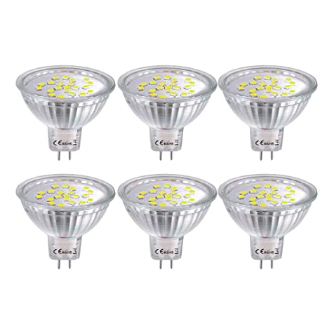 MR16 Bombillas LED GU5.3, 4W Copa de luz, Blanco frío 6000K,