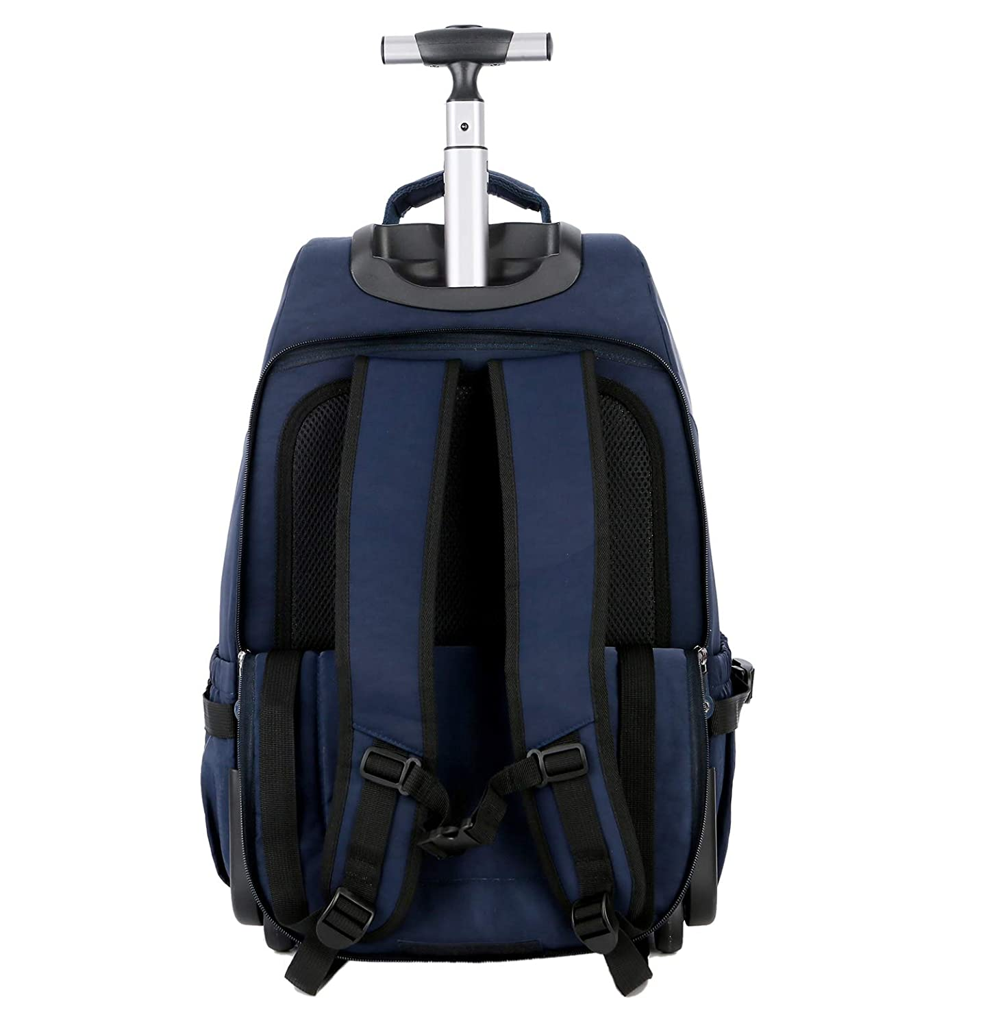 Blue WEISHENGDA 19 inches Waterproof Wheeled Rolling Backpack for Men and Women Business Laptop Travel Bag