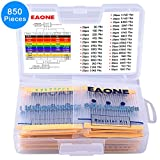 EAONE 850 Pieces 30 Values 1% Resistor Kit, 0 Ohm-1M Ohm 1/4W Metal Film Resistors Assortment for DIY and Experiments