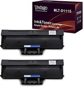 Vmosgo Compatible Toner Cartridges Replacement for Samsung MLT-D111S High Yield, 2 Black, Work with Samsung Xpress M2020W M2022W M2070FW M2070W Printer (~1000 Pages)