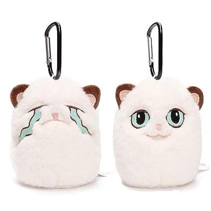 JEWH Grouchy Kitten Cat Mini Charm Pendant /Keychain - Holiday Ornament Angrey Cat Plush Soft