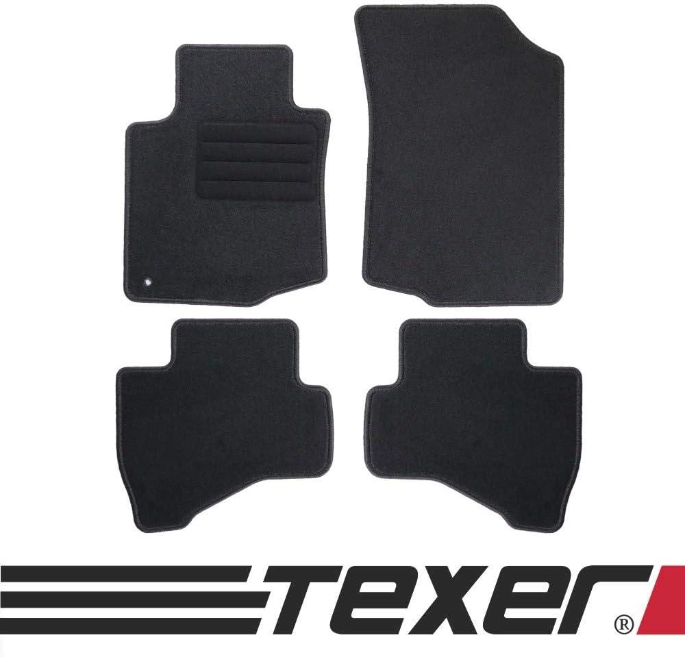 Texer Textil Fußmatten Passend Für Citroen C1 I Bj 2005 2014 Basic Auto