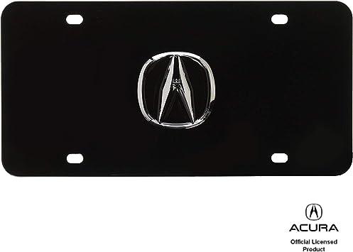 Chrome Logo On License Plate Frame for Acura Au-Tomotive Gold Black INC