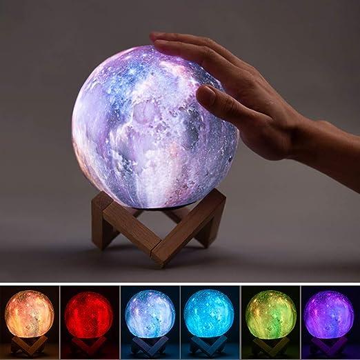 LjQQjDz Impresión En 3D Lámpara De Colores Táctiles Cambio De Luz ...