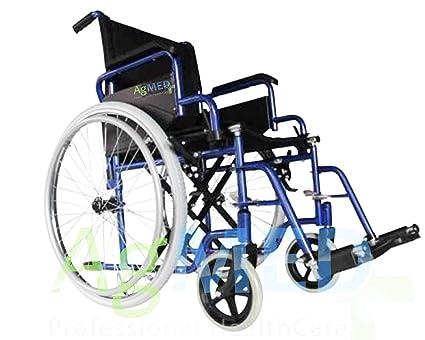 Sedia a rotelle pieghevole leggera ad autospinta carrozzina per