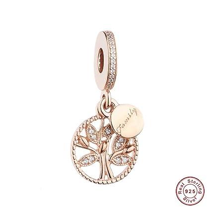 10b032eb7 MOCCI Autumn Rose Gold Family Tree Heritage Dangle Beads DIY Fits for Original  Pandora Bracelets 925 Silver Charm Fashion Jewelry: Amazon.co.uk: Kitchen &  ...