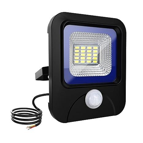 Merisny 10W LED Foco con detector de movimiento blanco frío - IP66 Proyector a LED impermeable