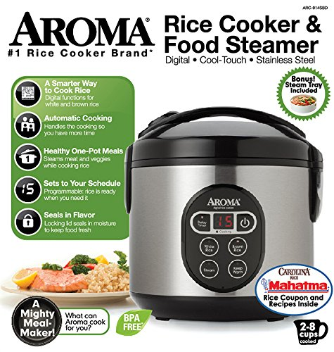 Aroma Digital Rice Cooker Aroma Housewares ARC-914SBD 8-Cup (Cooked) Digital Cool ...