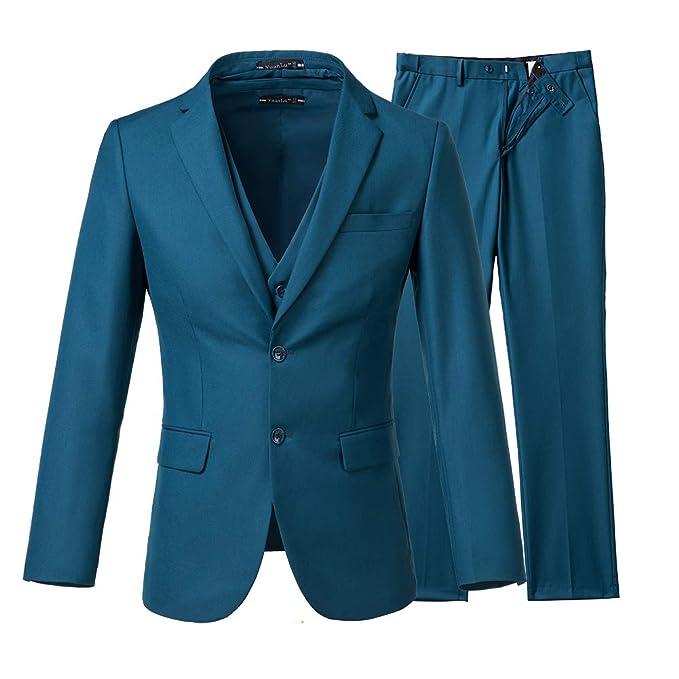 Amazon.com: Yanlu - Trajes de boda ajustados para hombre, 3 ...