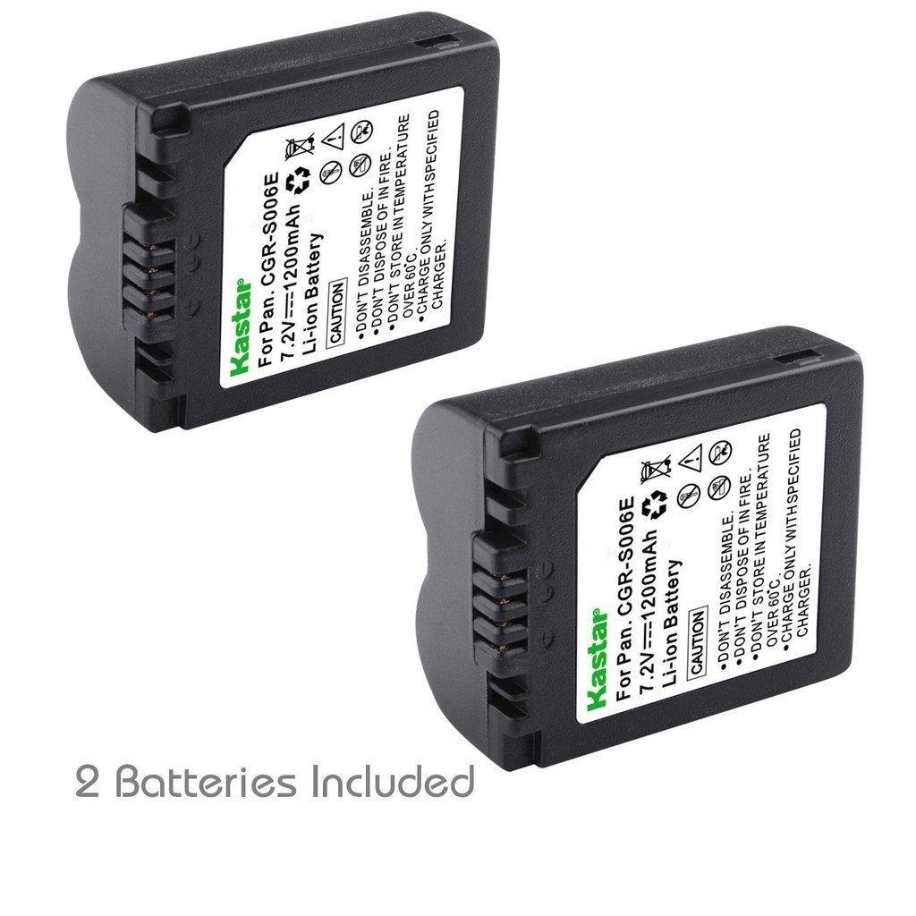 Kastar充電器、バッテリーfor cga-s006 cgr-s006 s006 2 Batteries BA-2B-S006. 2 Batteries  B0756LNQK3