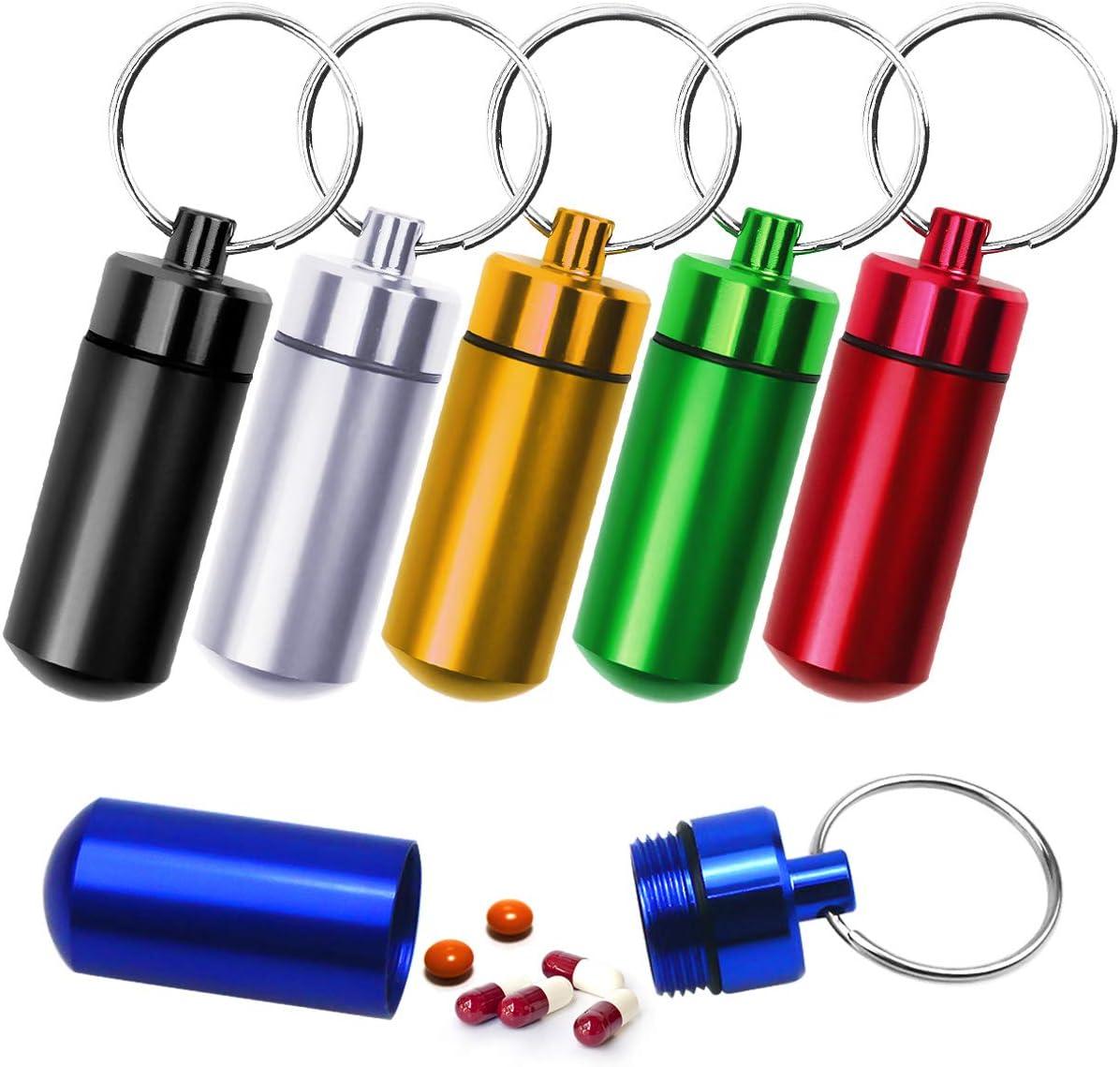 Boîte à pilules Bouteille de cure-dents Support Vitamines Porte-clés