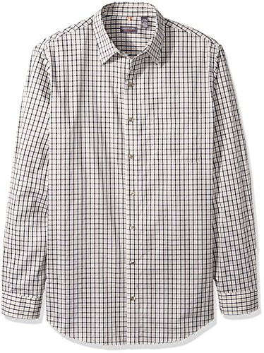 Van Heusen Men's Size Big and Tall Traveler Stretch Long Sleeve Button Down Black/Khaki/Grey Shirt, Classic, Large