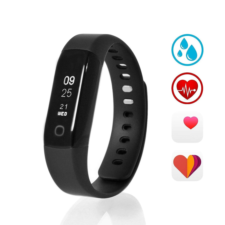 Sharon Wellsmart Cardio Sport - Pulsera Reloj Inteligente Fitness Tracker, Monitor de Sueño, Bluetooth Ritmo Cardíaco, Impermeable, Compatible con ...