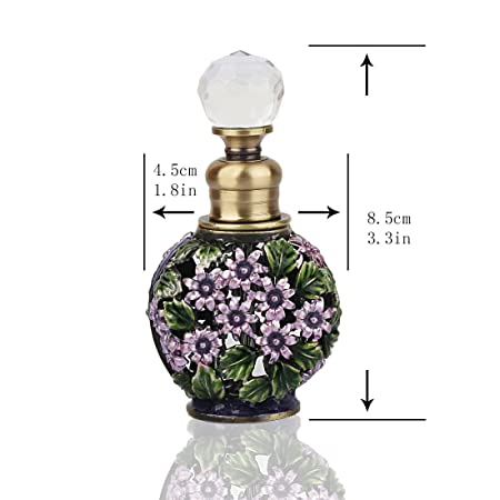 52e7cb74621d YUFENG Fancy Retro Mini Glass Perfume Bottle Empty Refillable Vintage  Frosted Glass Perfume Bottles